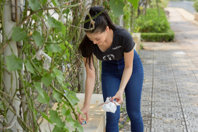 Mặc kệ thị phi bủa vây, Hoa hậu Phương Khánh thực hiện loạt hành động bảo vệ môi trường