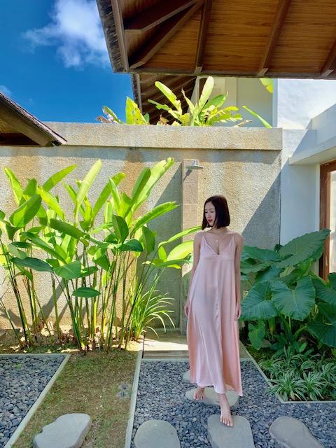 Á hậu Hà Thu trải nghiệm ở Bali.