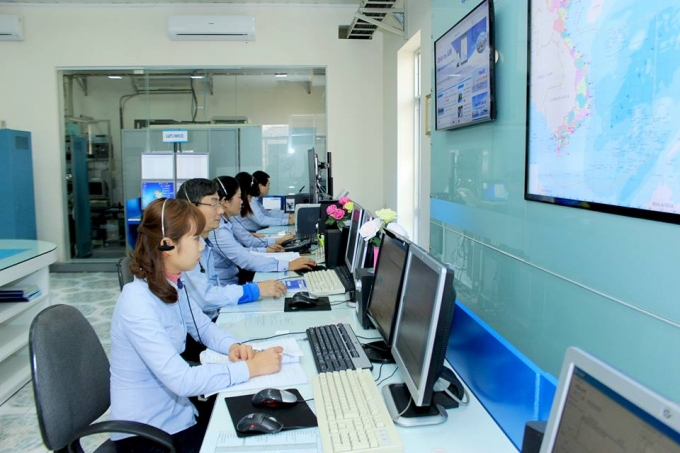 Hệ thống Thông tin duyên hải Việt Nam đang theo sát để trợ giúp cứu nạn.  (Ảnh: http://vishipel.com.vn/)