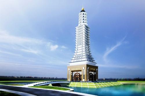 Phối cảnh tháp Thái Bình 25 tầng, cao 126m.