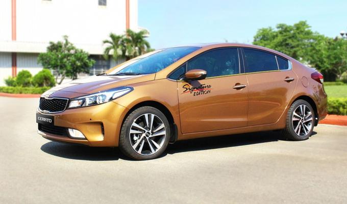 Kia Cerato màu sơn mới vừa ra mắt thị trường.