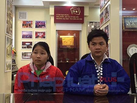 Em Liềng Thị Mai và Sờ Có Suy hiện đang theo học tại trường ĐH Văn Hóa (Hà Nội).