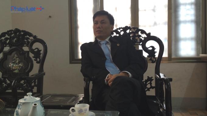 ôngLê Hùng - Phó Chi cục trưởng - Chi cục quản lý thị trường tỉnh Vĩnh Phúc. (ảnh: Mộc MIên).