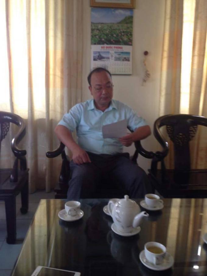 Ông Nguyễn Hữu Đức - Chủ tịch xã Trung Nguyên, huyện Yên Lạc, Vĩnh Phúc.