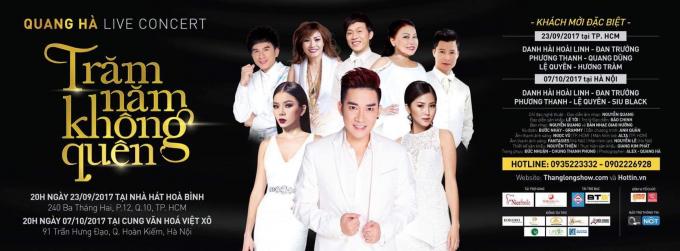 Các khách mời biểu diễn trong live show của ca sĩ Quang Hà.