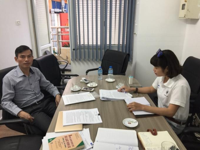 PV Phapluatplus.vn trao đổi vụ việc cùng Luật sư Vi Văn Diện.