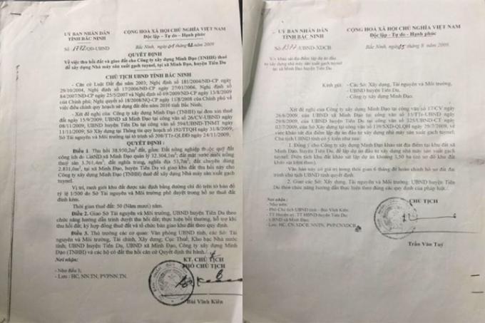 Quyết định cho thuê đất 50 năm của UBND tỉnh Bắc Ninh.