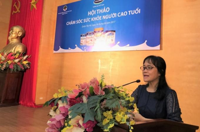 Bà Nguyễn Minh Tâm - Giám đốc Chi nhánh Hà Nội phát biểu tại hội thảo.