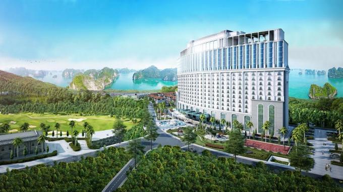 Hình ảnh phối cảnh của FLC Grand Hotel Hạ Long.