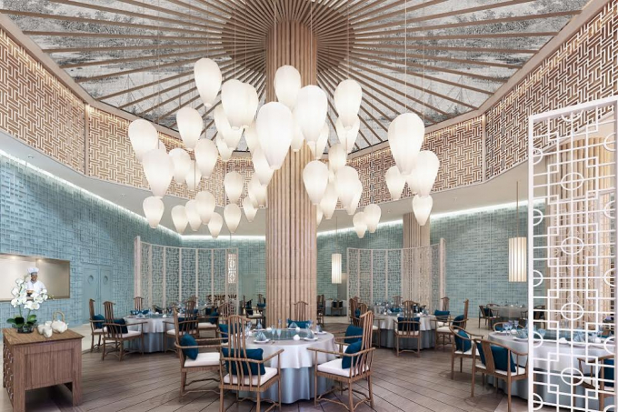 Một nhà hàng trong khách sạn FLC Grand Hotel
