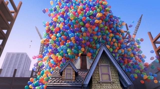 """Trong bộ phim hoạt hình """"Up"""" nổi tiếng của hãng Pixar, nhân vật Carl đã sử dụng khoảng 20,622 quả bóng bay để nhấc bổng ngôi nhà mình lên không. Tuy nhiên, xét theo khía cạnh khoa học, số lượng bóng bay để hiện thực hóa điều này phải lên đến khoảng 30 triệu quả."""