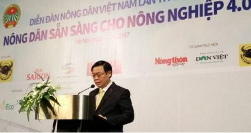 Phó Thủ tướng Vương Đình Huệ phát biểu tại diễn đàn. Ảnh: NNK