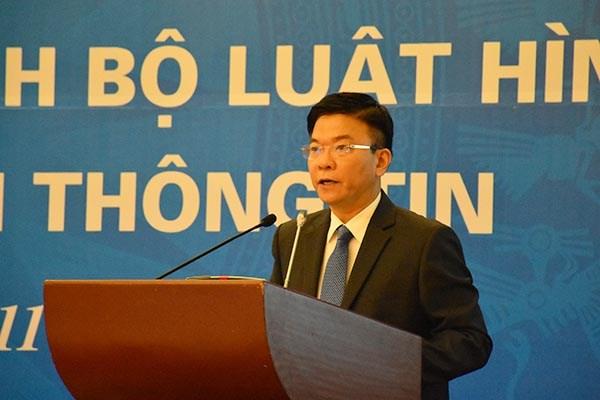 Bộ trưởng Lê Thành Long phát biểu tại Hội nghị.