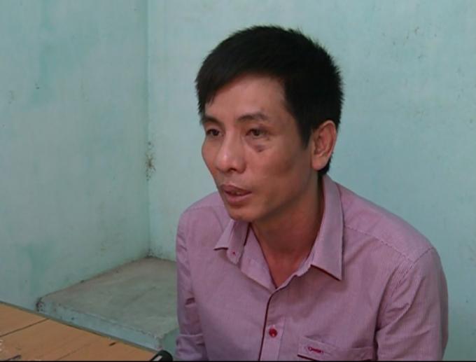 Đối tượng Lưu Vĩnh Phúc tại cơ quanđiều tra.