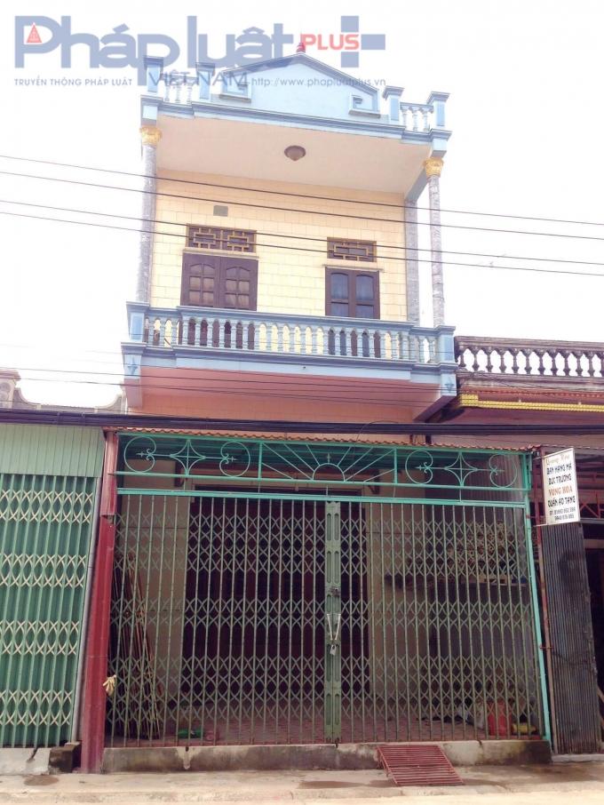 Ngôi nhà của bà Vân tại xóm 4,xã NamĐiền.