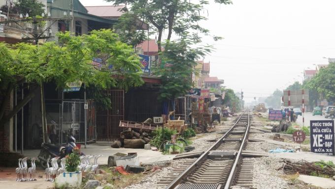 Khu vực ngã ba Cát Đằng, thôn Tân Lập, xã Yên Tiến, huyện Ý Yên nơi xảy ra vụ việc thương tâm.