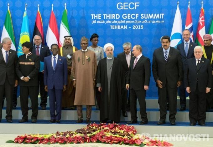 Hội nghị thượng đỉnh Diễn dàn các nước xuất khẩu khí đốt tại Tehran. (Ảnh:RIA NOVOSTI)