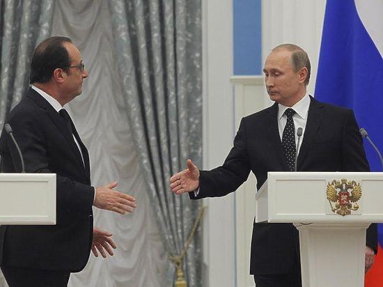 Hai nhà lãnh đạo Nga - Pháp thống nhất liên mình chống khủng bố (Ảnh: mk.ru)