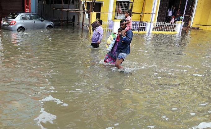 Nhiều khu vực tại miền Nam Ấn Độ bị ảnh hưởng nặng