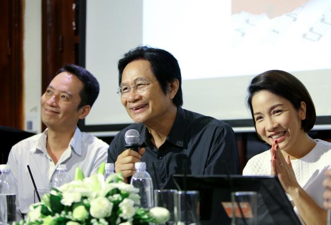 Nhạc sĩ Dương Thụ cùng vợ chồng ca sĩ Mỹ Linh -Anh Quân