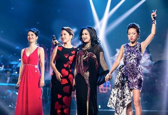Bốn giọng hát đẹp được báo chí định danh là 4 diva của âm nhạc Việt Nam