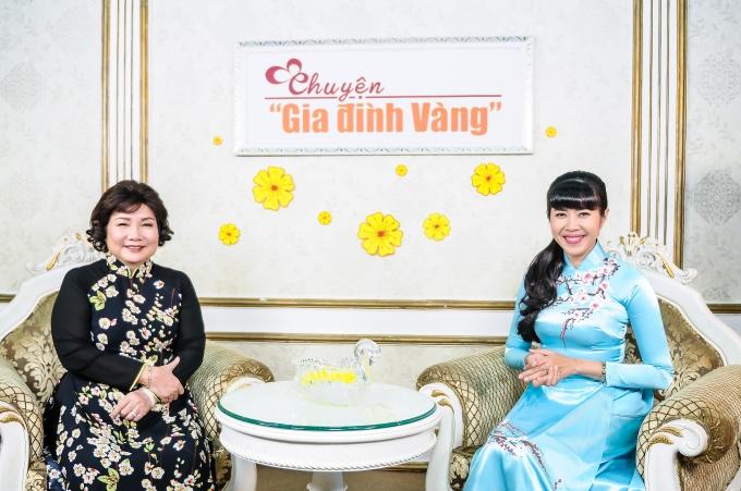 Tiến sĩ Nguyễn Thị Mai và MC Quỳnh Hoa