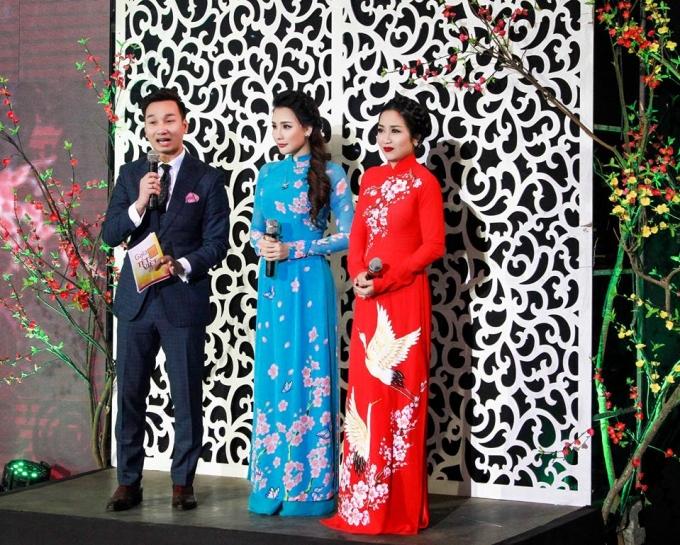 Thành Trung và Ốc Thanh Vân đảm nhận vai trò làm MC trong Gala Tết Việt 2016