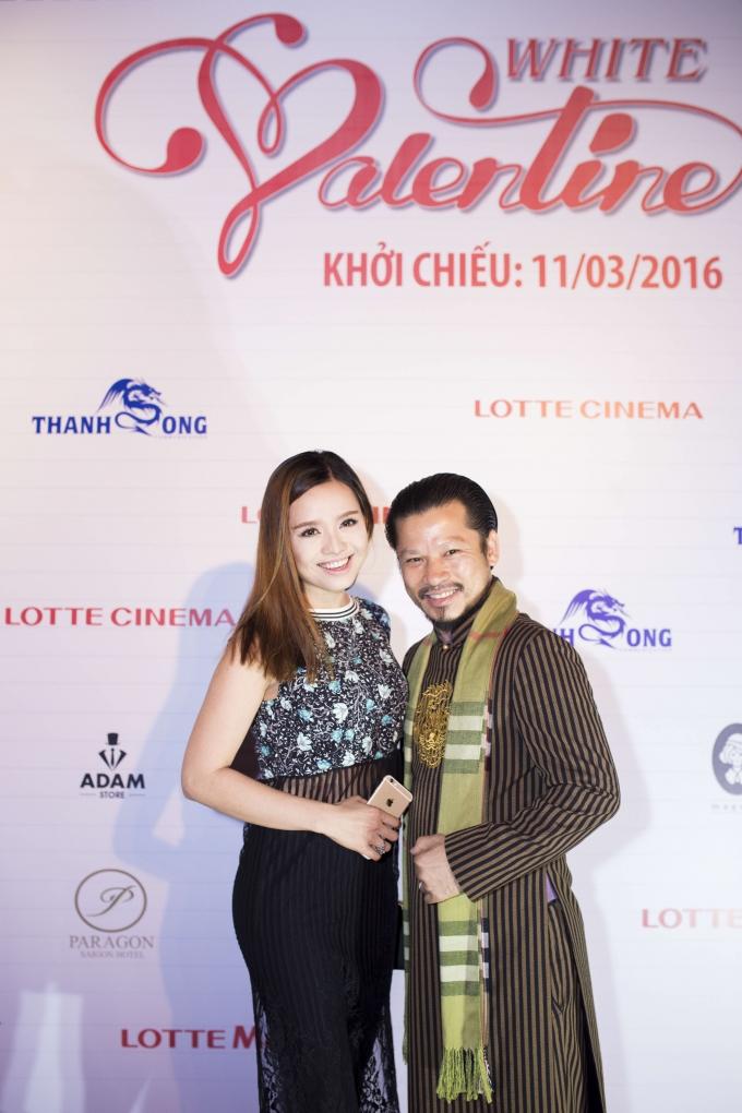 Cao Thùy Linh và doanh nhânHùng Cửu Long cùng xuất hiện trong sự kiện.