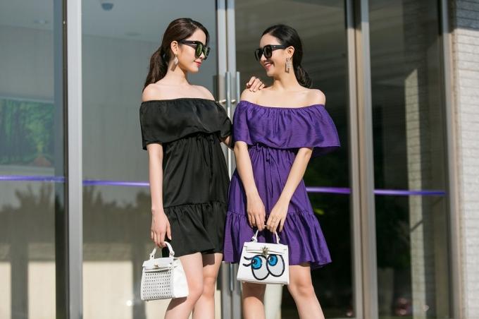 Nam Em, Hà Thu gợi ý trang phục xuống phố cuối tuần cho các bạn gái.