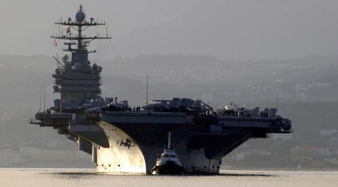 Tàu sân bay Harry S. Truman của Mỹ. (Ảnh:Reuters)