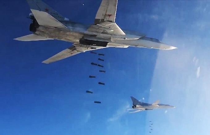 Máy bay Nga thực hiện công kích mục tiêu khủng bố tại Syria. (Ảnh:Tass)