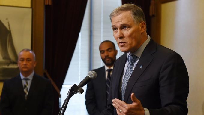Thống đốc bang Washington Jay Inslee. (Ảnh: AP)