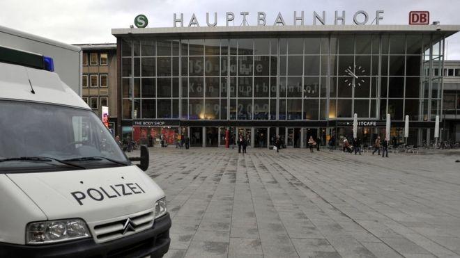 Vụ việc xảy ra xung quanh nhà ga trung tâm Cologne. (Ảnh: AFP)