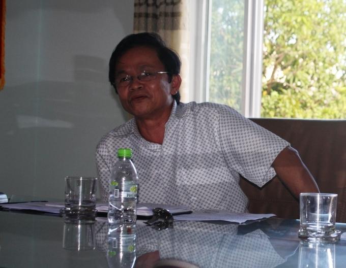 Ông Đoàn Văn Lên, Chủ tịch Liên minh Hợp tác xã tỉnh Quảng Nam.