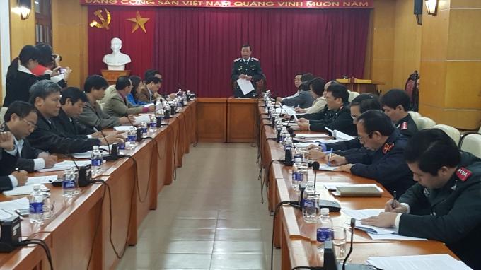 Cuộc họp về kế hoạch phối hợp tổ chức tiếp công dân phục vụ Đại hội Đảng khóa XII của Thanh tra Chính phủ.