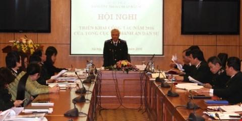 Tổng cục trưởng Hoàng Sỹ Thành chủ trì hội nghị.