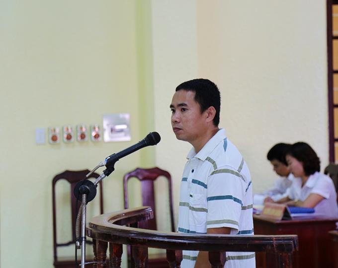 Bị cáo Phan Tấn Nghĩa trong phiên sơ thẩm ngày 4/9/2015.
