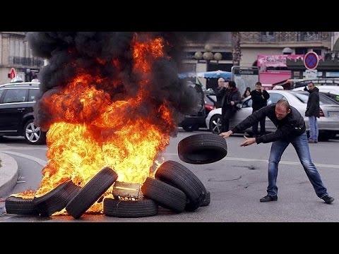Biểu tình, đinh công tại Pháp, giao thông tê liệt