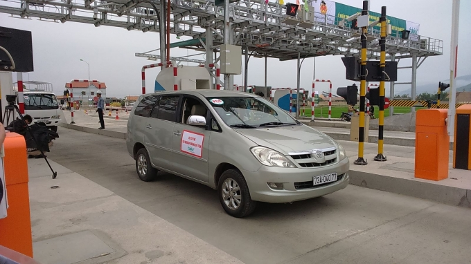 Trạm thu phí tại Km604+700 (Quảng Bình) là 1 trong 3 trạm thí điểm công nghệ ETC.