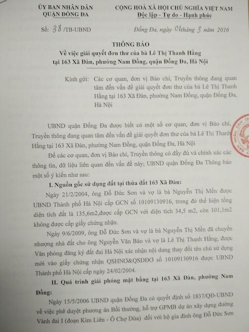 Hà Nội: Kỷ luật Phó Chủ tịch phường vì xác nhận sai nguồn gốc đất