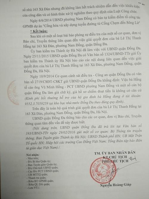 Kỷ luật Phó chủ tịch UBND phường Nam Đồng do những sai phạm liên quan đến đất đai.
