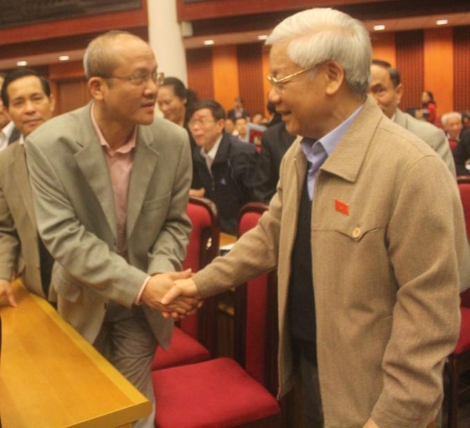 Tổng Bí thư Nguyễn Phú Trọng tại buổi tiếp xúc cử tri.