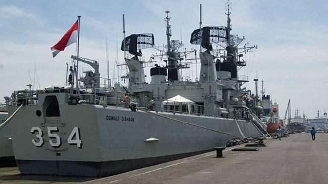Tàu hộ tống 354 của Indonesia. (Ảnh:CNA)