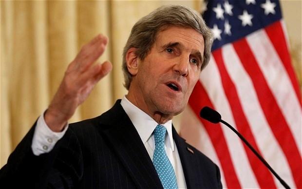 Ngoại trưởng John Kerry sẽ tới Bắc Kinh tham gia đối thoại Mỹ - Trung. (Ảnh:Telegraph)