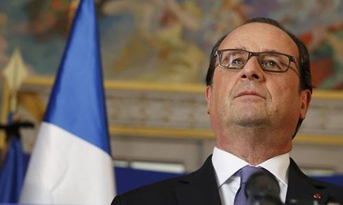 Tổng thống Pháp Francois Hollande. (Ảnh:Reuters)