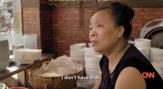 Sau câu nói tôi không có món đó, bà Thảo có ngay một câu tiễn khách, Ảnh chụp màn hình CNN