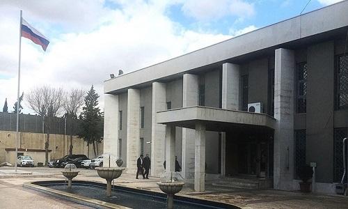 Đại sứ quán Nga tại thủ đô Damascus, Syria. (Ảnh: Sputnik)