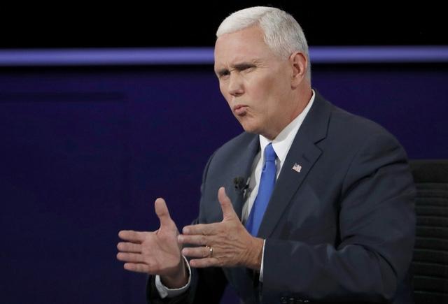Ứng viên phó tổng thống đảng Cộng hòa Mike Pence. (Ảnh: Reuters)