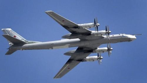 Máy bay ném bom Tu-95. (Ảnh:AFP)