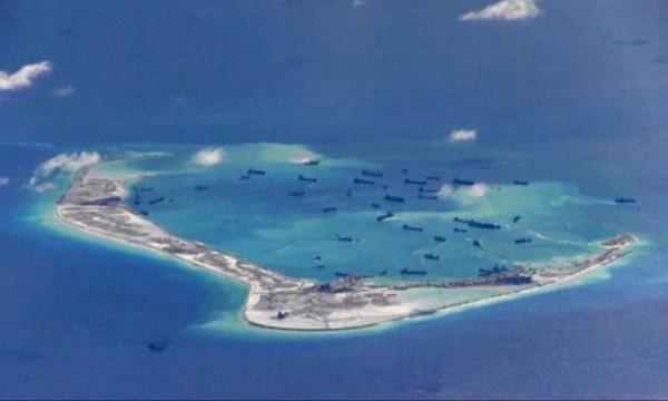 Trung Quốc bồi lấp trái phép ở quần đảo Trường Sa của Việt Nam.(Ảnh:Reuters.)